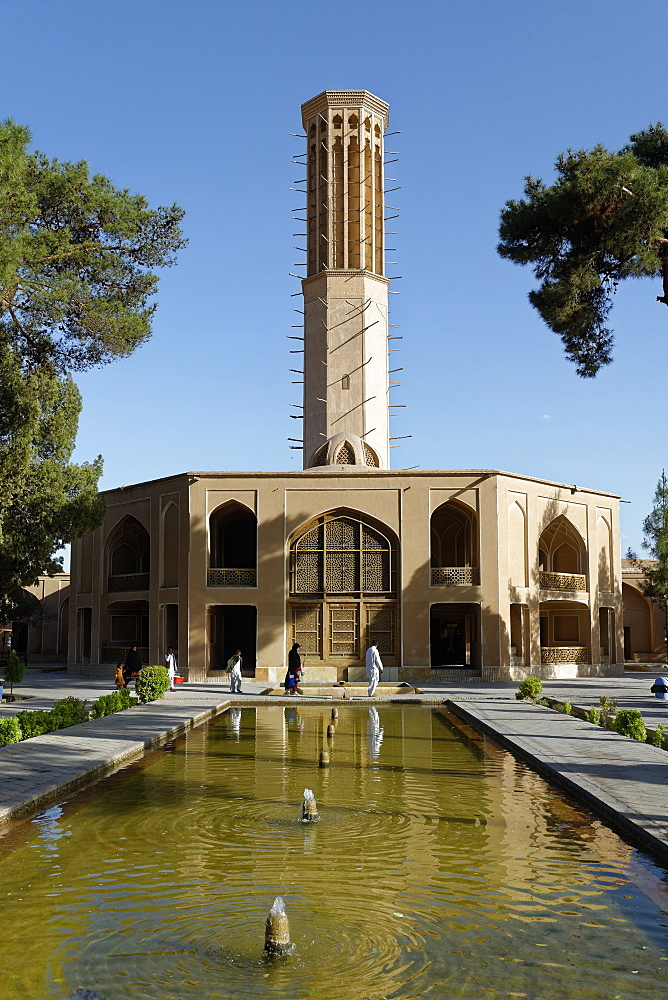 Windtower (wind catcher), Dowlat Abat Garden pavilion, Yazd city, Iran, Middle East - 724-2582