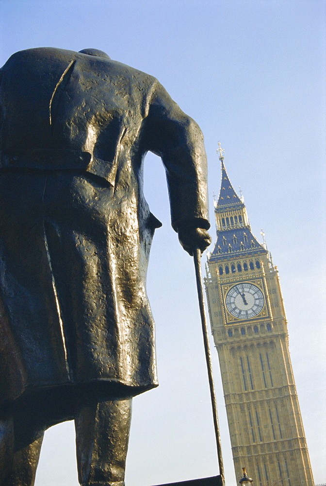 Statue of Winston Churchill, Westminster, London