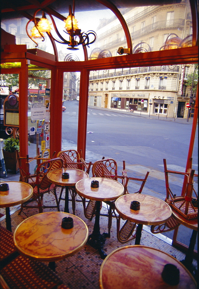 Tables in a cafe, Paris, France  - 728-326
