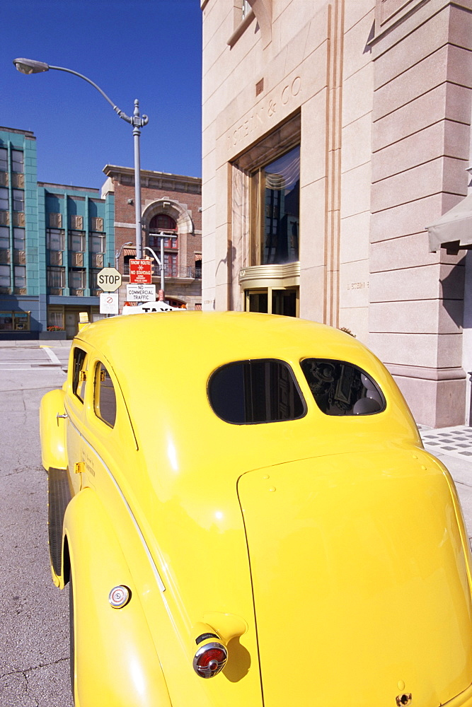 Yellow car at Universal Studios, Orlando, Florida, United States of America (U.S.A.), North America