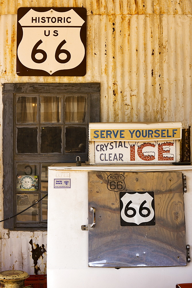 Gas station, Route 66, Arizona, United States of America, North America