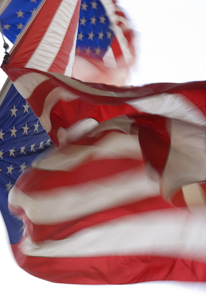 US flags, New York, United States of America, North America - 728-4482