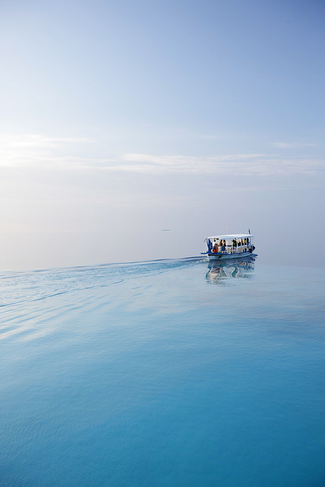 Ferry, Maldives, Indian Ocean, Asia