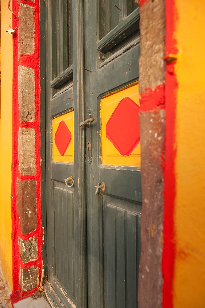 Colourful door, Santorini, Cyclades, Greek Islands, Greece, Europe  - 728-5451