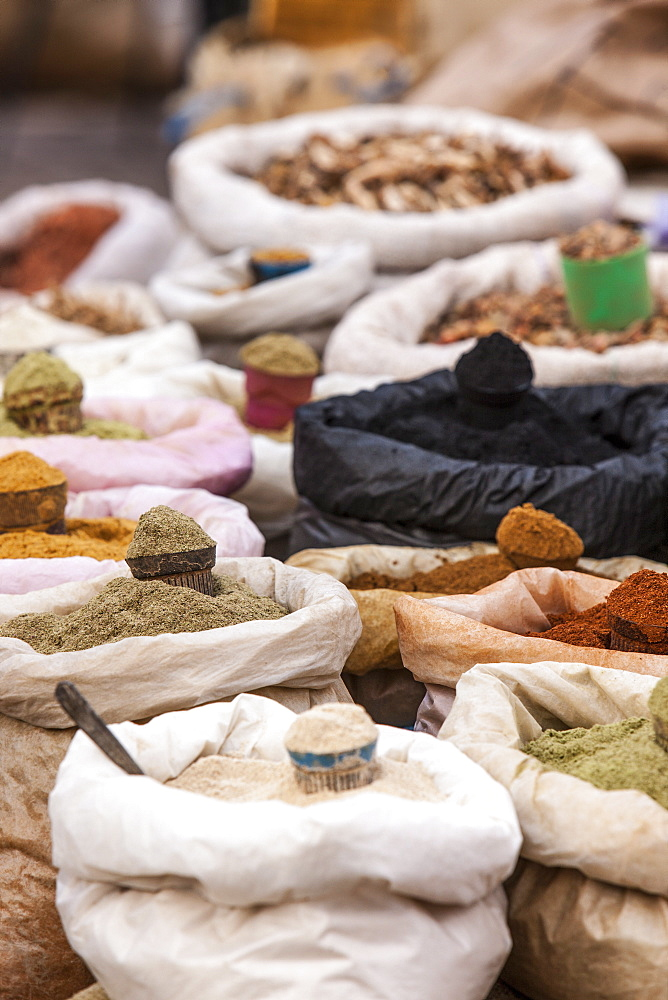 Spices souk in the Medina, Marrakech, Morocco, North Africa, Africa