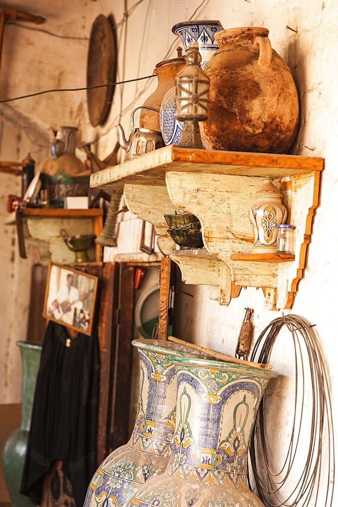 Pottery in the Medina, Marrakech, Morocco, North Africa, Africa