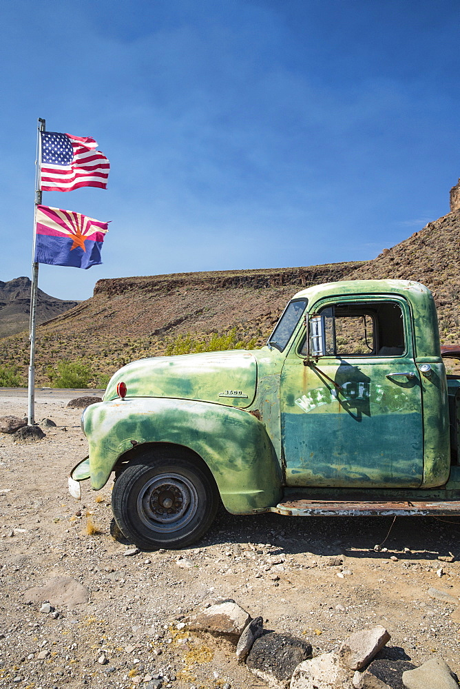 Old Truck on Route 66, Arizona, United States of America, North America