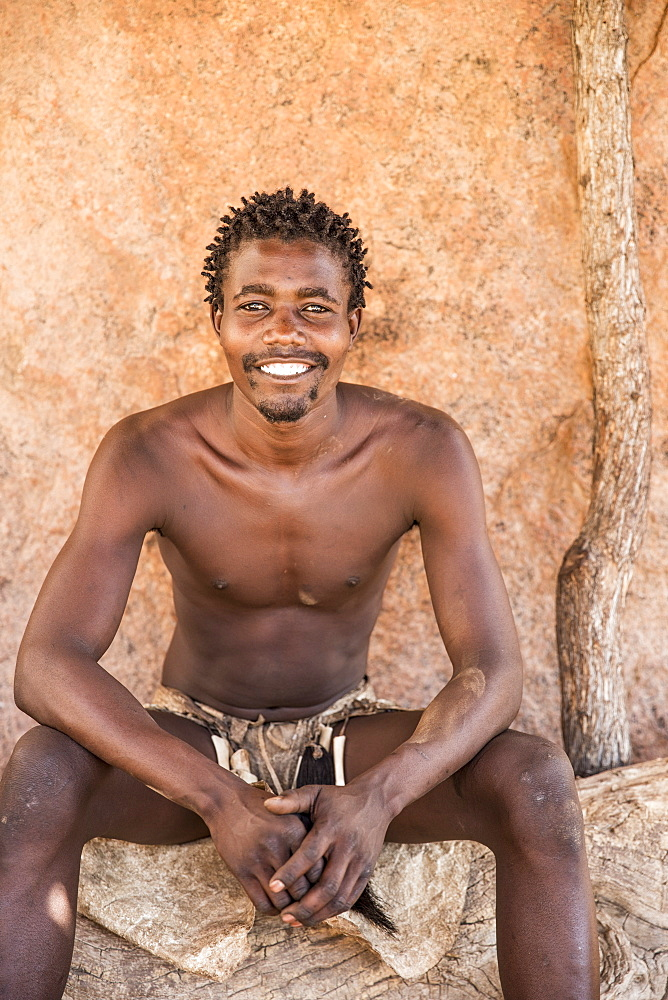 Man from the Himba tribe, North Namibia, Namibia, Africa