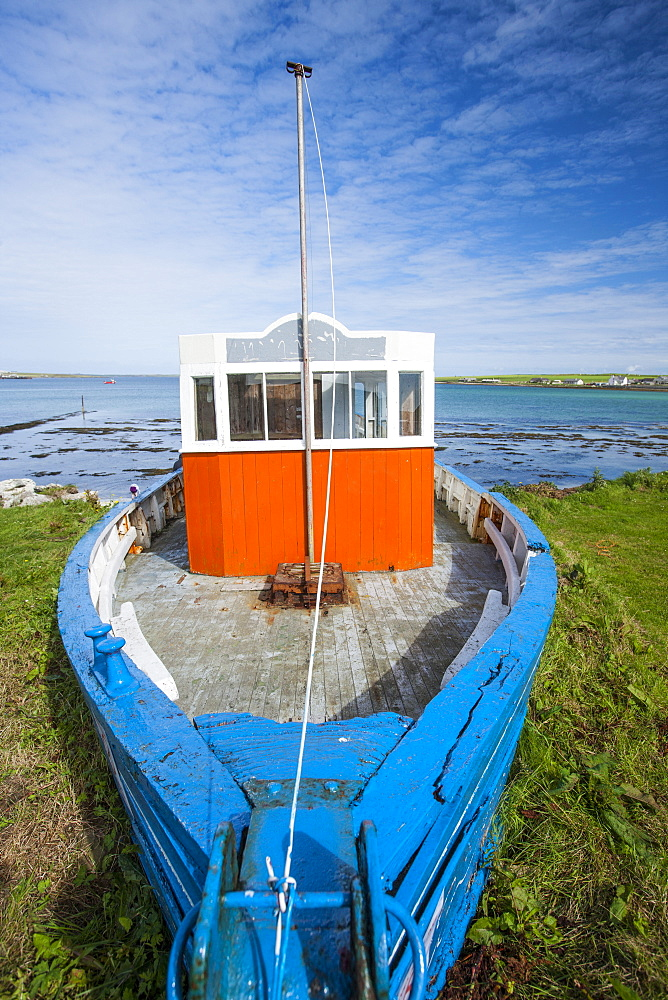 Fishing boat, Orkney Islands, Scotland, United Kingdom, Europe