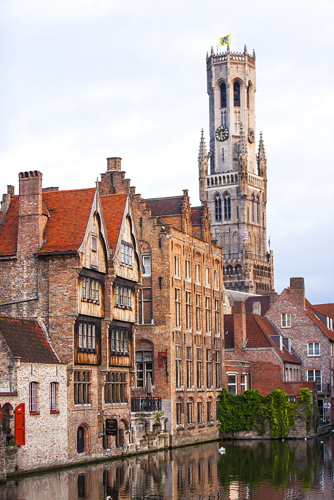 Center of Old Town, UNESCO World Heritage Site, Bruges, Belgium, Europe