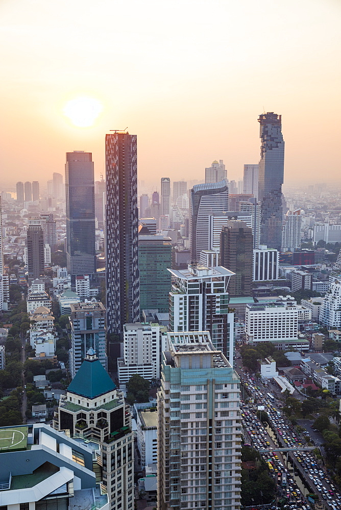 Business District in Bangkok, Thailand, Southeast Asia, Asia - 728-6397