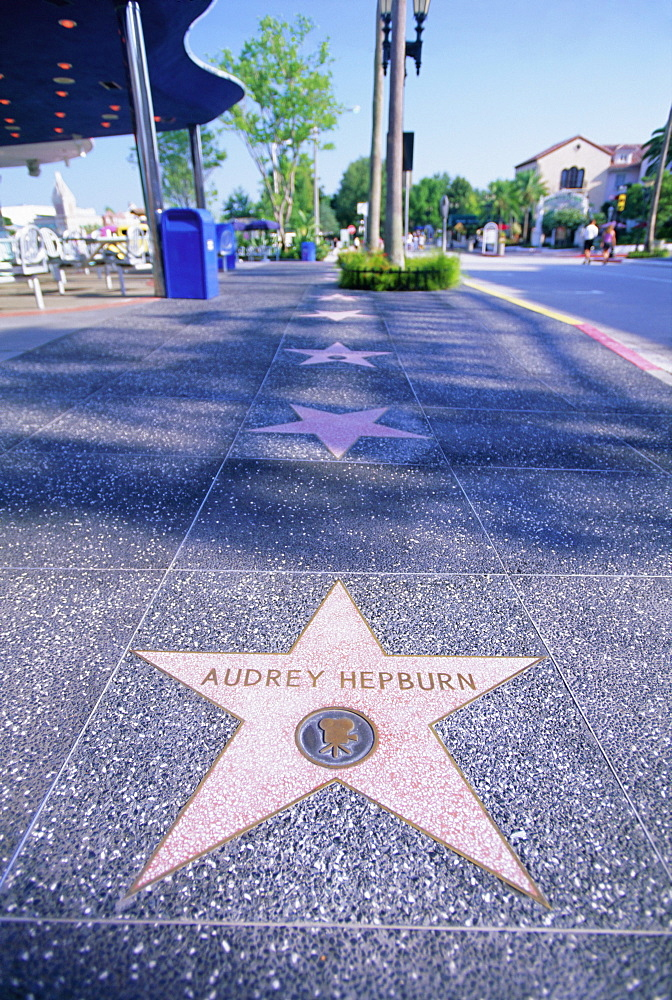 Audrey Hepburn's star, Hollywood Boulevard, Los Angeles, California, United States of America (U.S.A.), North America