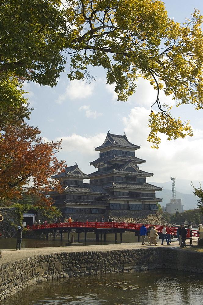 Moat around Matsumoto Castle, Nagano prefecture, Kyoto, Japan, Asia