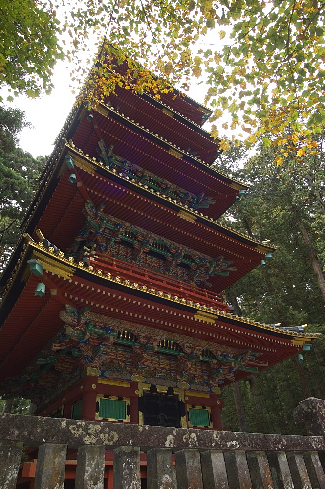 Pagoda at Toshogu Shrine, Nikko, Tochigi prefecture, Japan, Asia