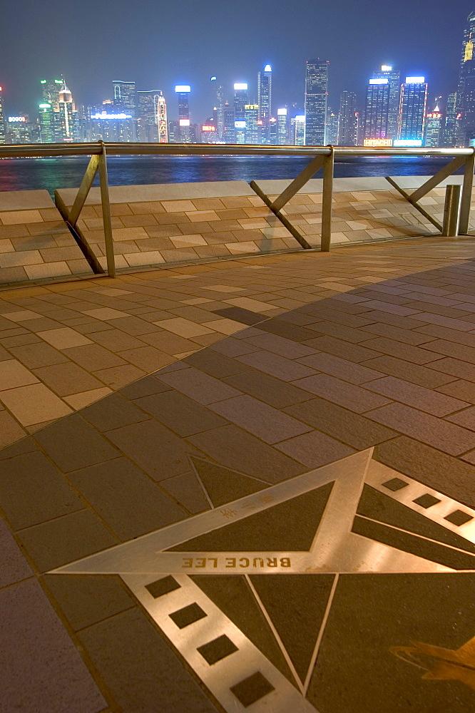 Bruce Lee's star, Avenue of Stars, Hong  Kong, China, Asia