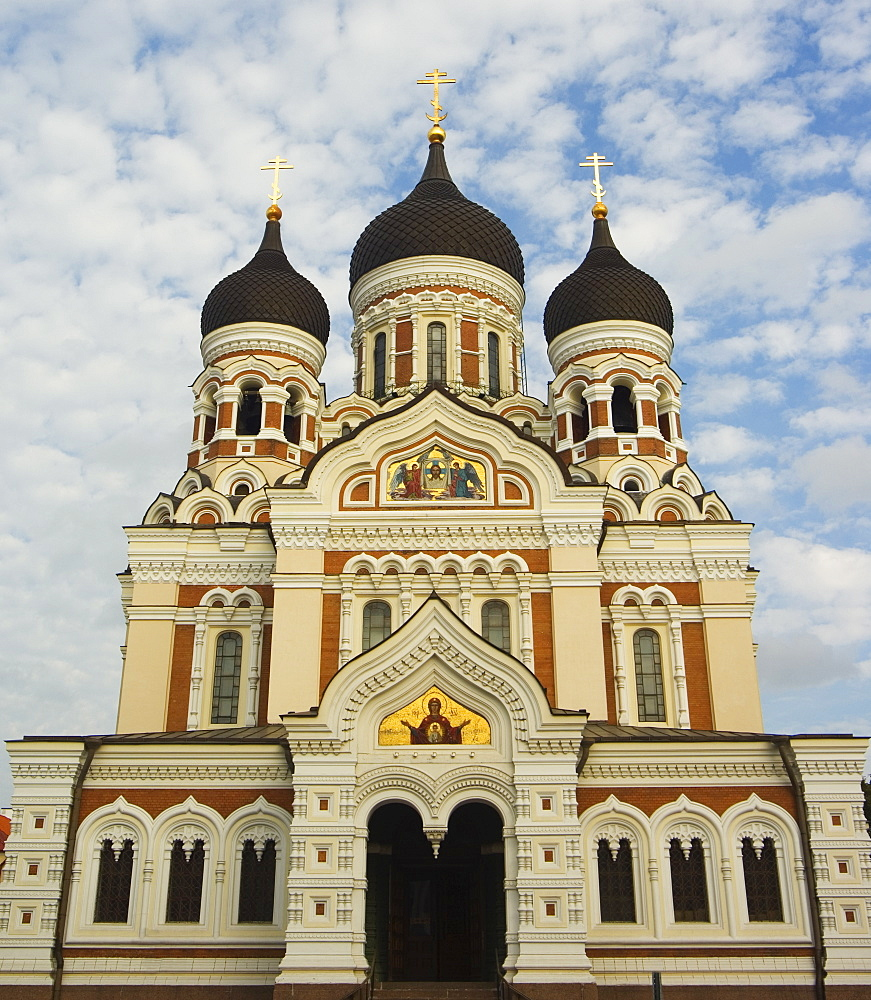 The 19th century Russian Orthodox Alexander Nevsky Cathedral on Toompea, Old Town, UNESCO World Heritage Site,Tallinn, Estonia, Baltic States, Europe
