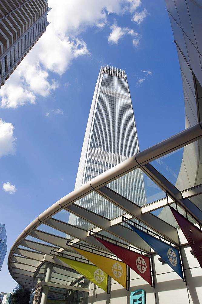 World Trade Center Phase 3 building, at 330m Beijing's tallest building, in Guomao CB, Beijing, China, Asia