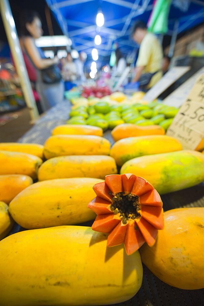 Papaya fruit, Bangsar Sunday night market, Kuala Lumpur, Malaysia, Southeast Asia, Asia
