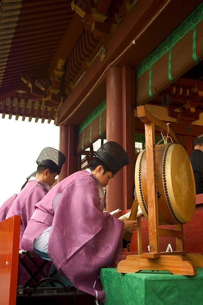 Hachimangu Shrine, Kamakura, southwest of Tokyo, Honshu, Japan, Asia