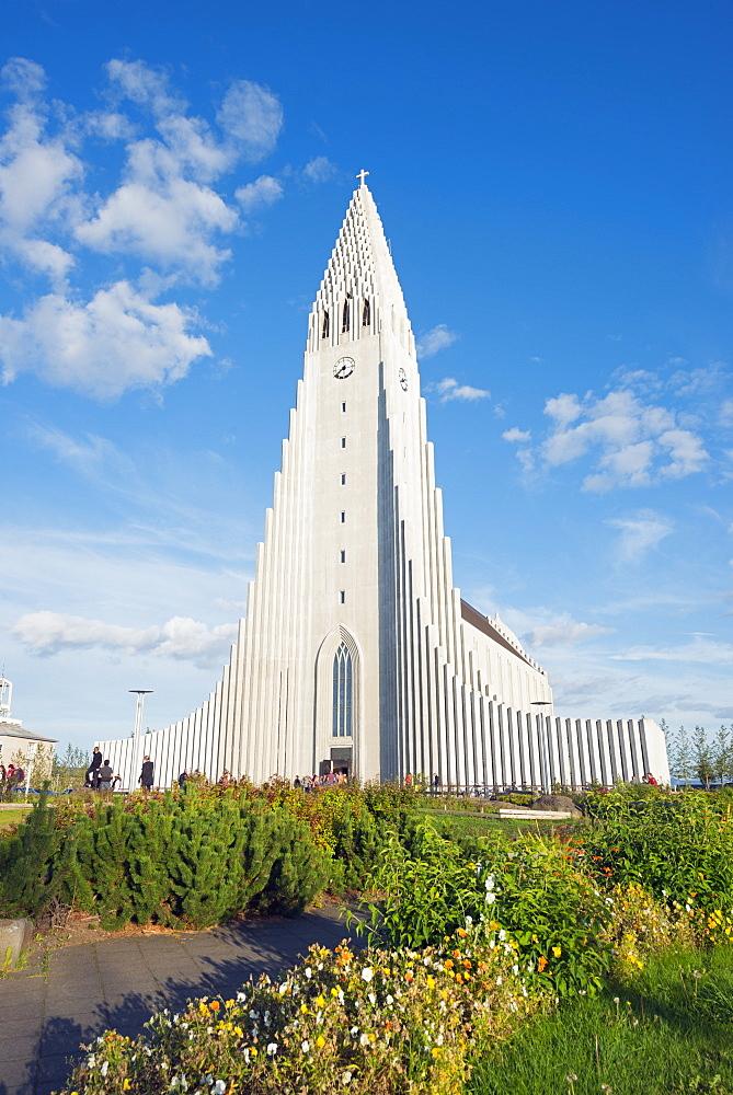 Hallgrimskirkja church, Reykjavik, Iceland, Polar Regions
