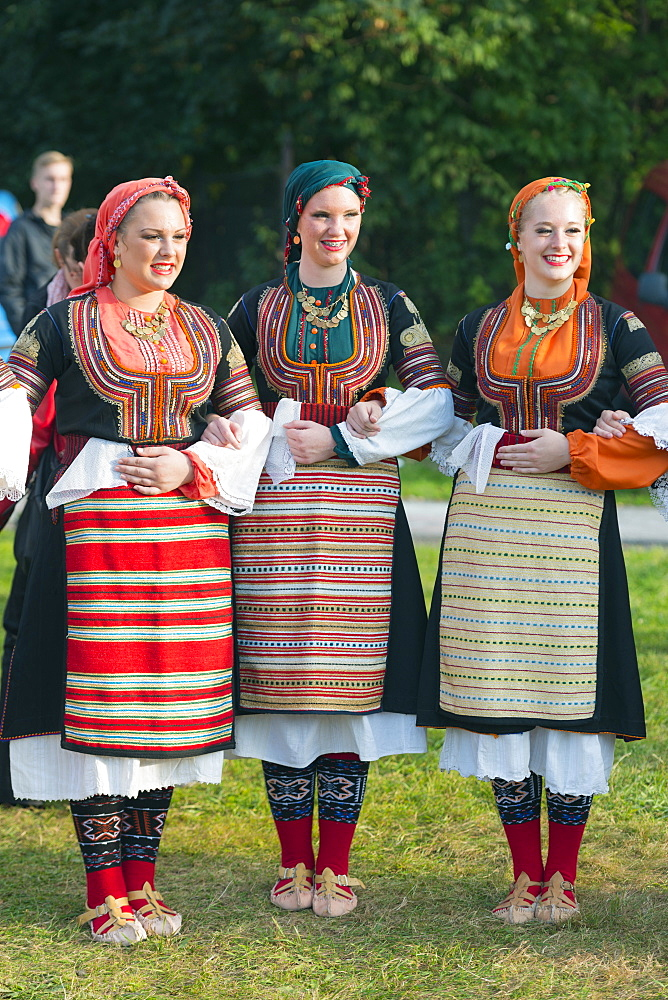 Performers from Serbia in traditional costume, International Festival of Mountain Folklore, Zakopane, Carpathian Mountains, Poland, Europe