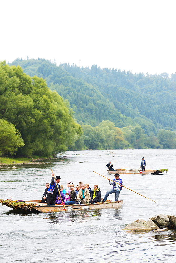 Rafting trip on Dunajec River, Dunajec Gorge, Poland, Europe