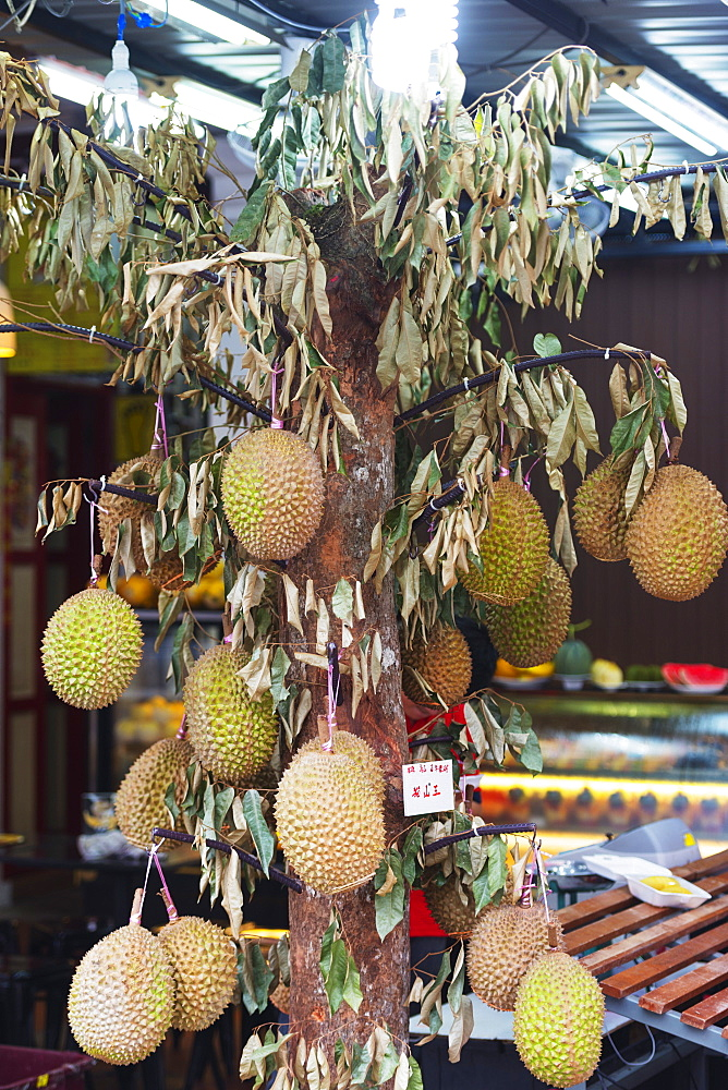Durian street display, Singapore, Southeast Asia, Asia