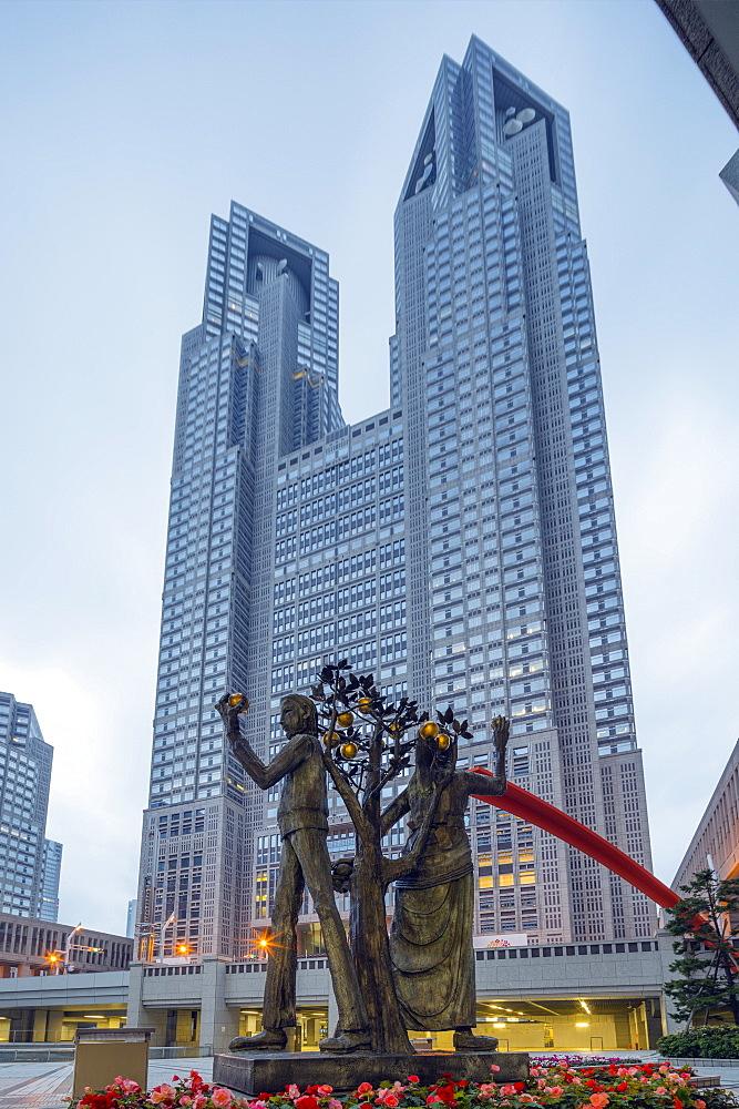 Metropolitan Government building, Tocho, Shinjuku, Tokyo, Honshu, Japan, Asia