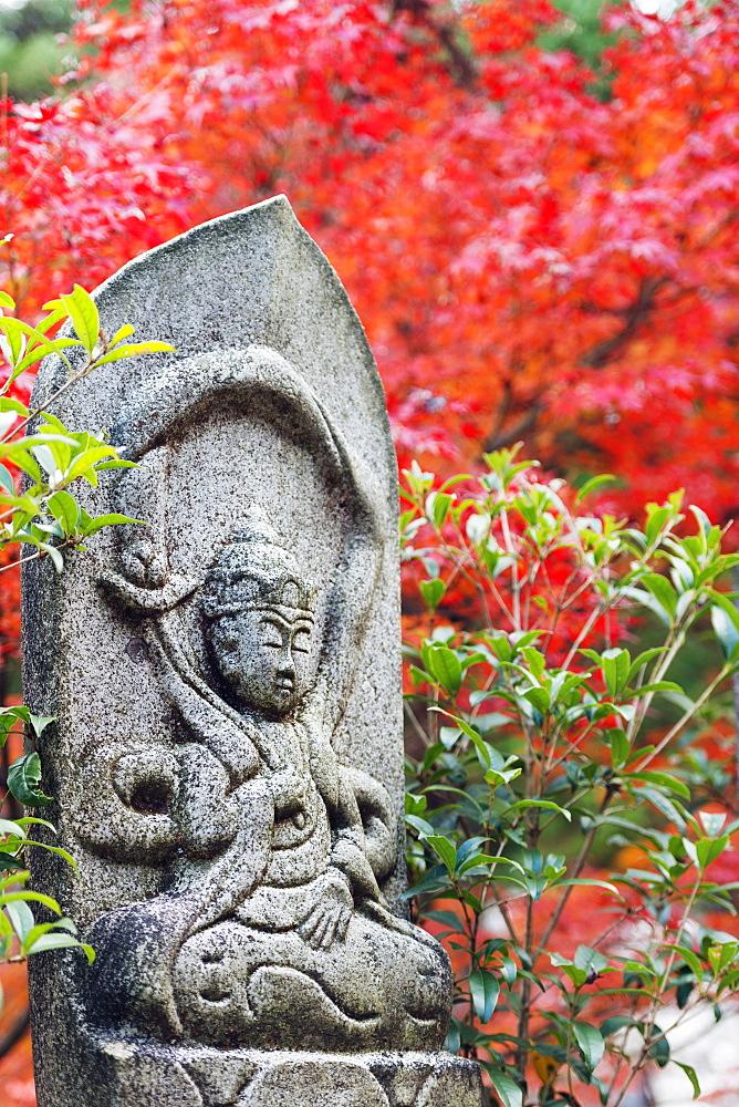 Statue in Daisho-in Buddhist temple, Miyajima Island, Hiroshima Prefecture, Honshu, Japan, Asia