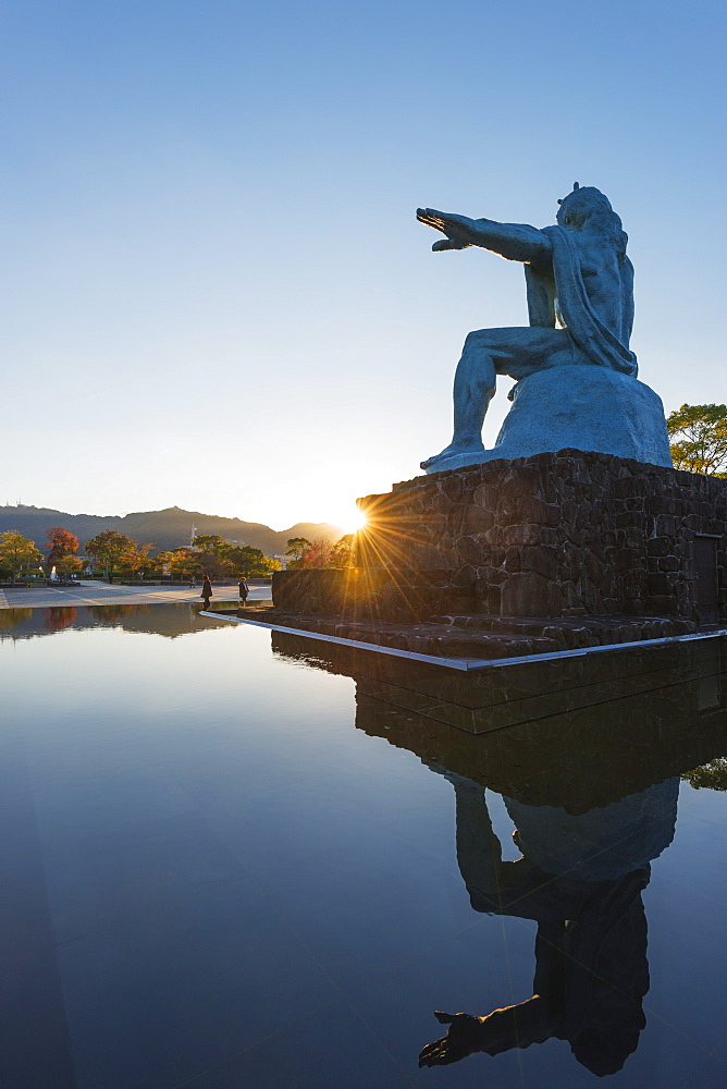 Peace Park, designed by Seibou Kitamura in memory of the 1945 atomic bomb victims, Nagasaki, Kyushu, Japan, Asia,