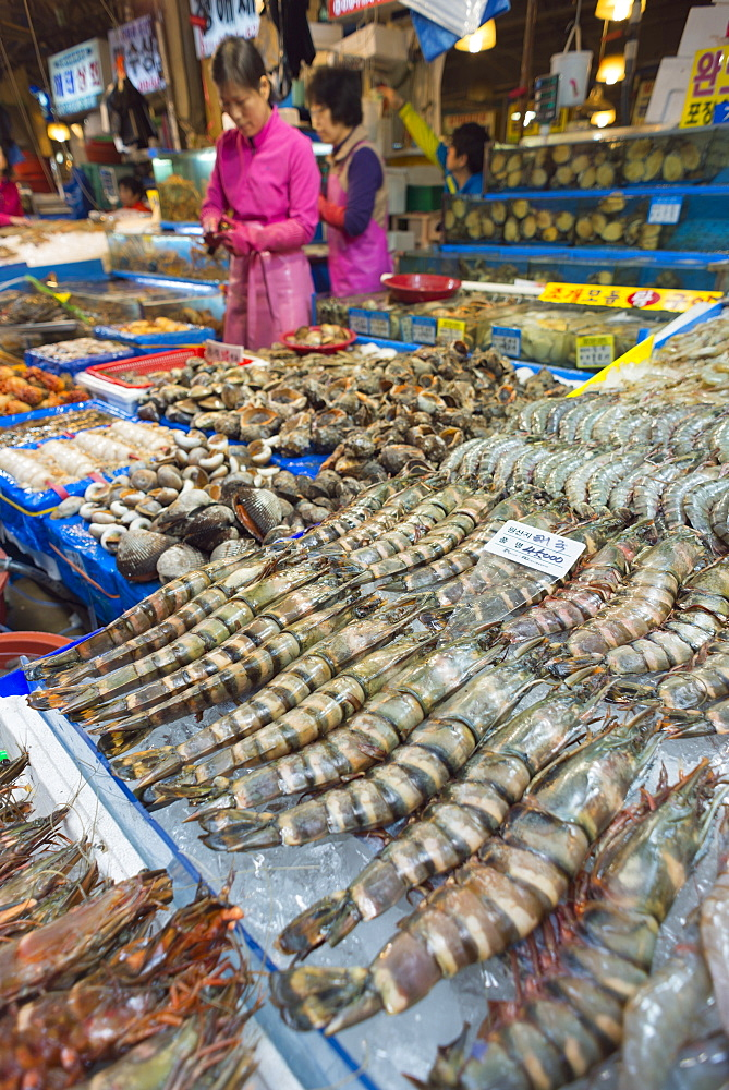 Noryangjin fish market, Seoul, South Korea, Asia