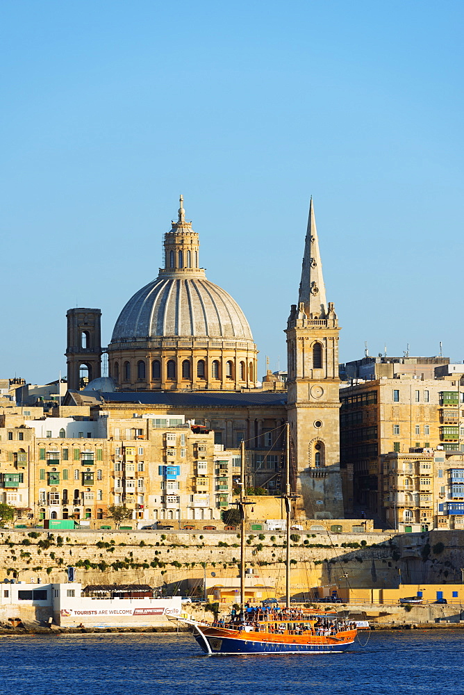 St. Paul's Anglican Cathedral and Carmelite Church, Valletta, Malta, Mediterranean, Europe