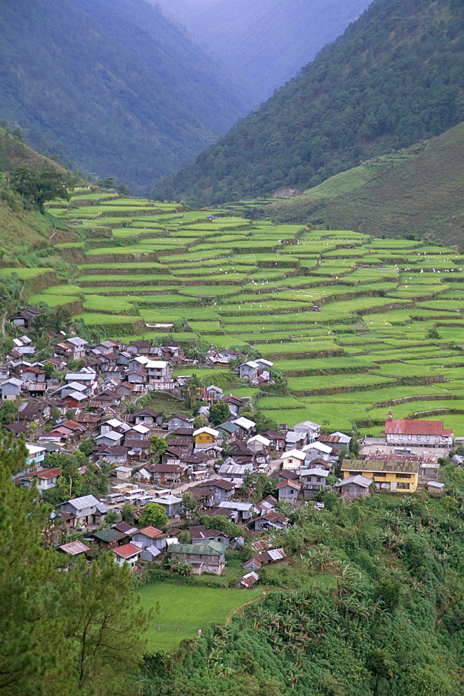 Rice terraces and village, Banaue, UNESCO World Heritage Site, Luzon, Philippines, Southeast Asia, Asia