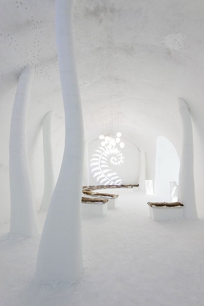 The chapel, Ice Hotel, Kiruna, Lapland, Arctic Circle, Sweden, Scandinavia, Europe