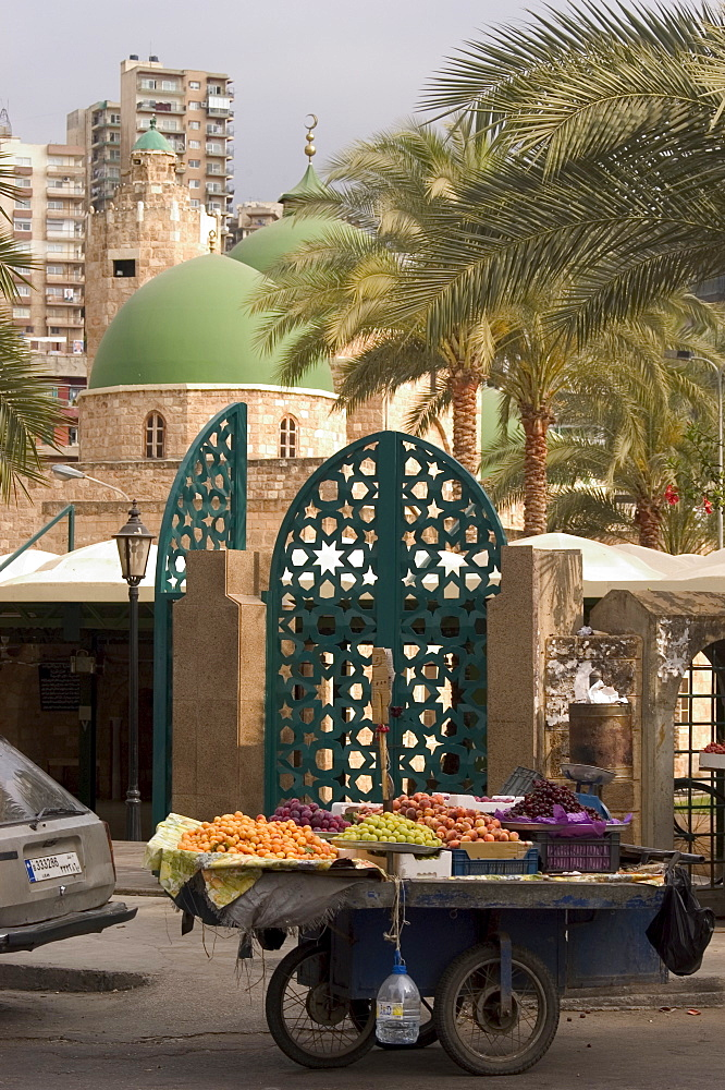 Fruit seller's cart, Tripoli, Lebanon, Middle East