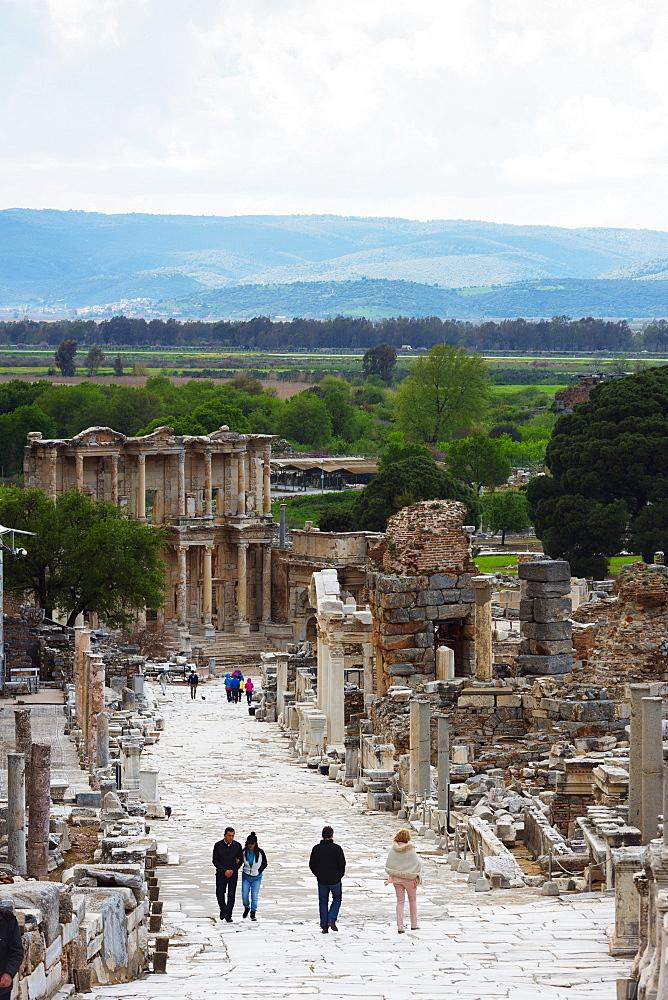 Ancient Roman ruins, The Library of Celcus, Ephesus, Anatolia, Turkey, Asia Minor, Eurasia