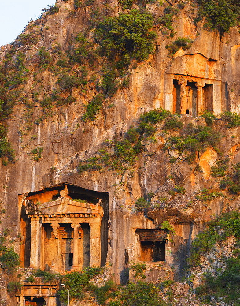 Ancient Telmessos, tomb of Amyntas and Ionic temple dating from 350 BC, Fethiye, Anatolia, Turkey, Asia Minor, Eurasia