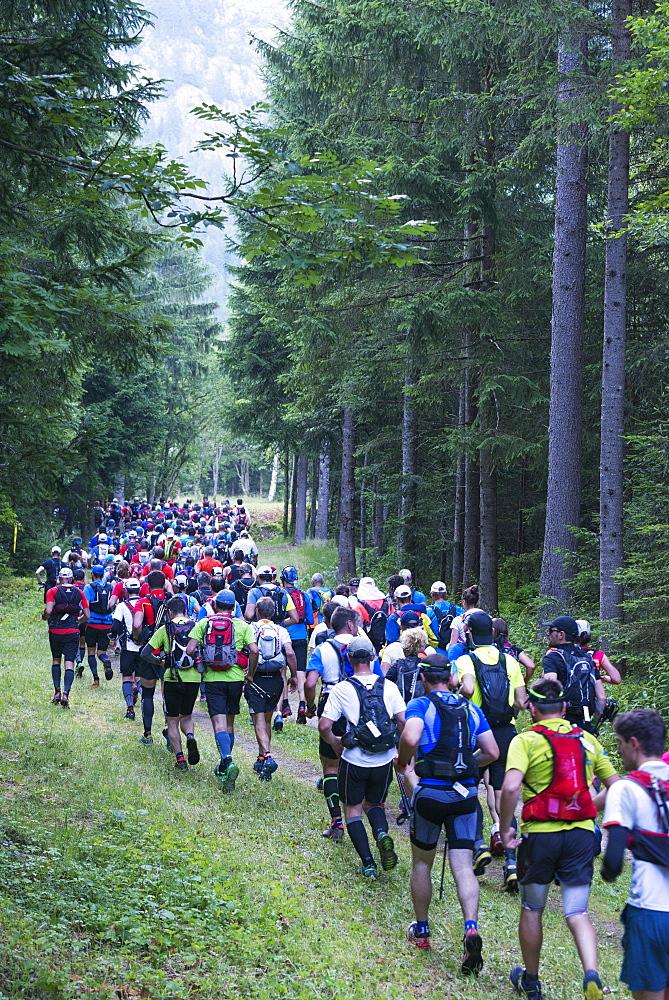 Chamonix trail running marathon, Chamonix, Rhone Alps, Haute Savoie, France, Europe