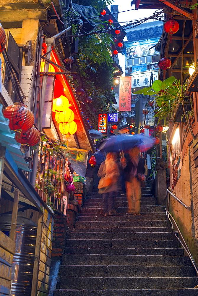 Tea houses, Jiufen, Taiwan, Asia