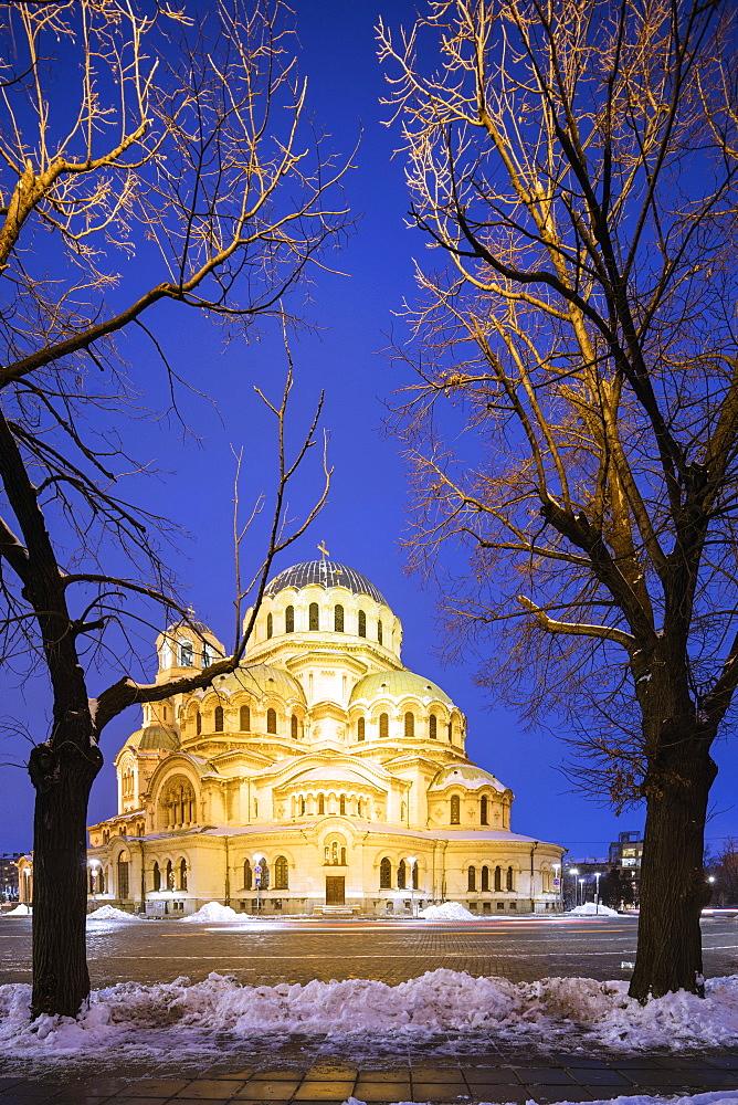 Europe, Bulgaria, Sofia, Cathedral Saint Alexandar Nevski