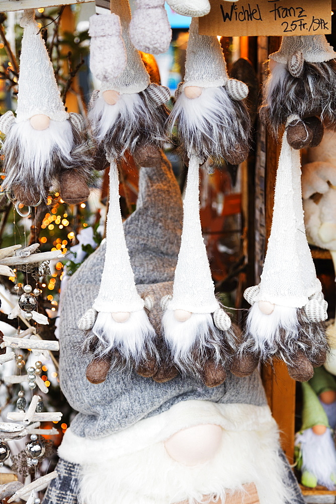Christmas market decorations, Einsiedeln, Schwyz, Switzerland, Europe - 733-7758