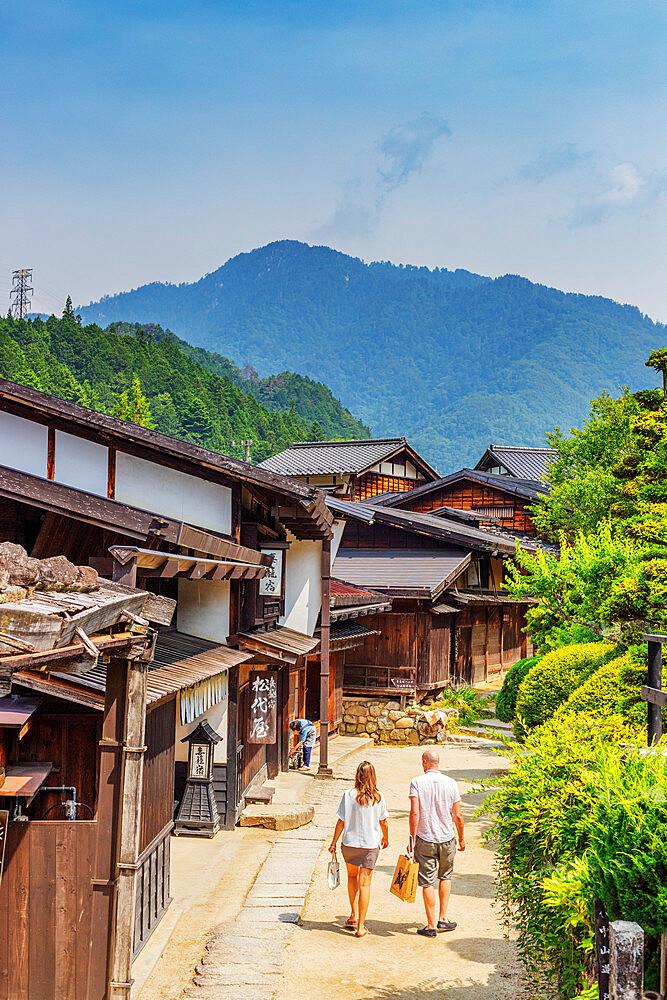 Japan, Honshu, Nagano prefecture, Kiso valley, Nakasendo old post town of Tsumago