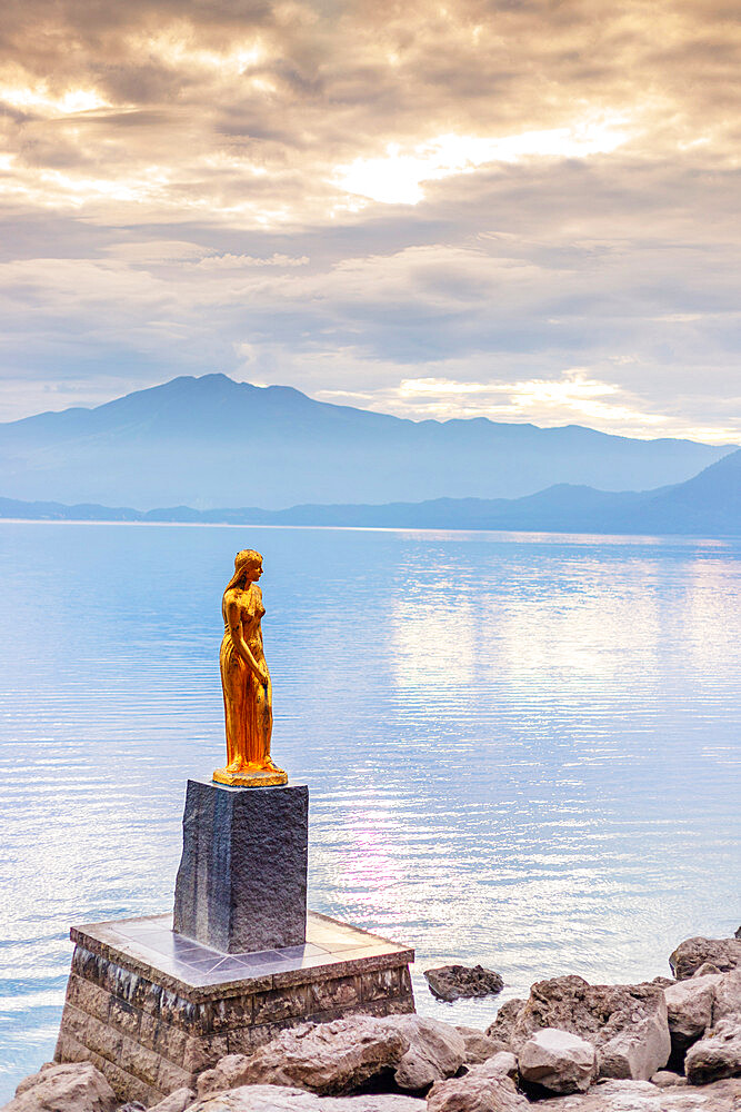 Japan, Honshu, Tohoku, Akita prefecture, Lake Towaza