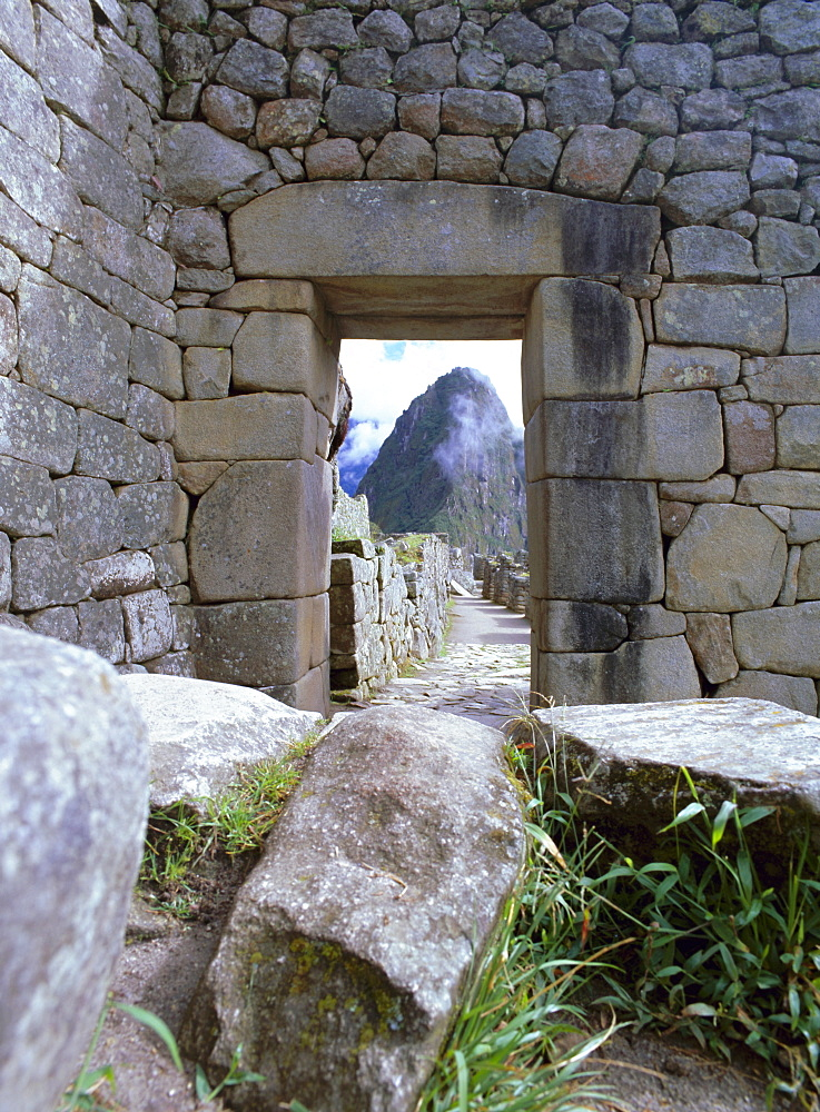 Inca ruins, Machu Picchu, UNESCO World Heritage Site, Peru, South America - 739-117