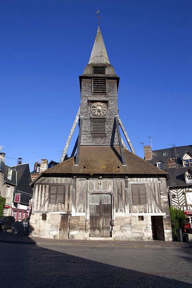 Church of Notre Dame the Grace, Honfleur, Normandy, France, Europe
