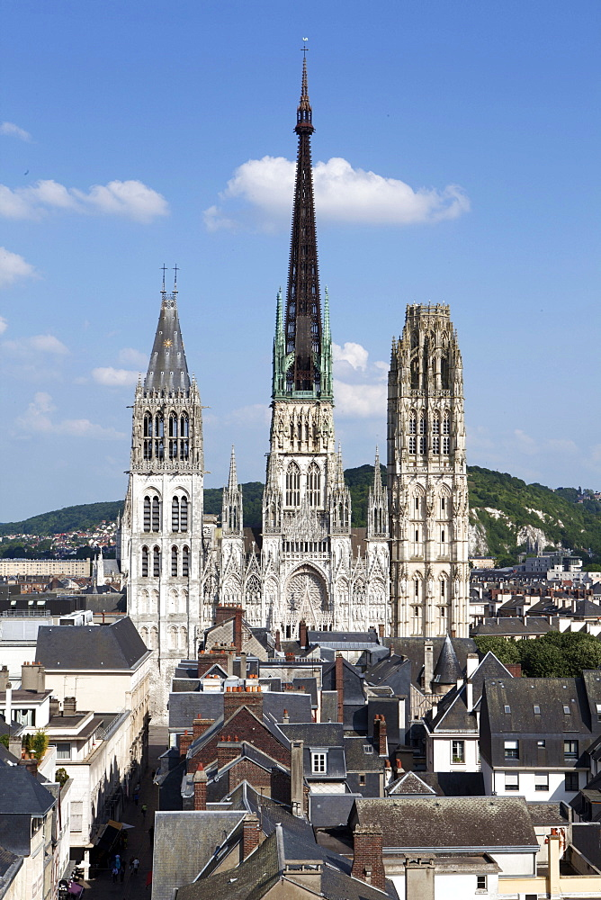 Notre-Dame Cathedral, Rouen, Normandy, France, Europe - 739-1356