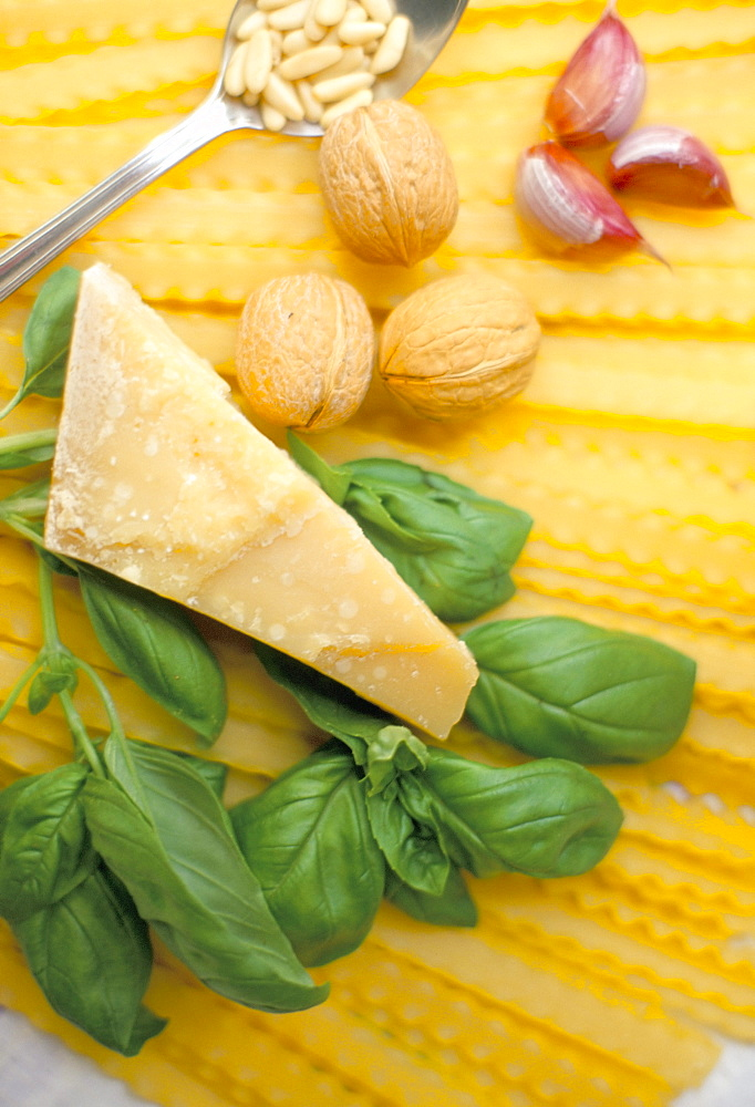 Ingredients for pesto, Italy, Europe