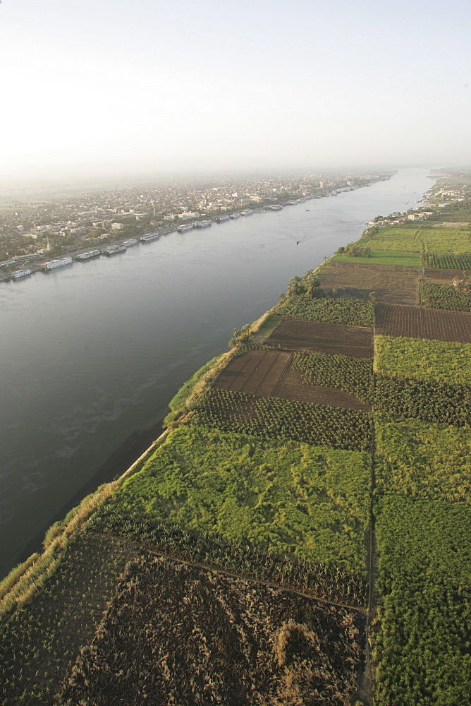 A view of the River Nile, Egypt, North Africa, Africa
