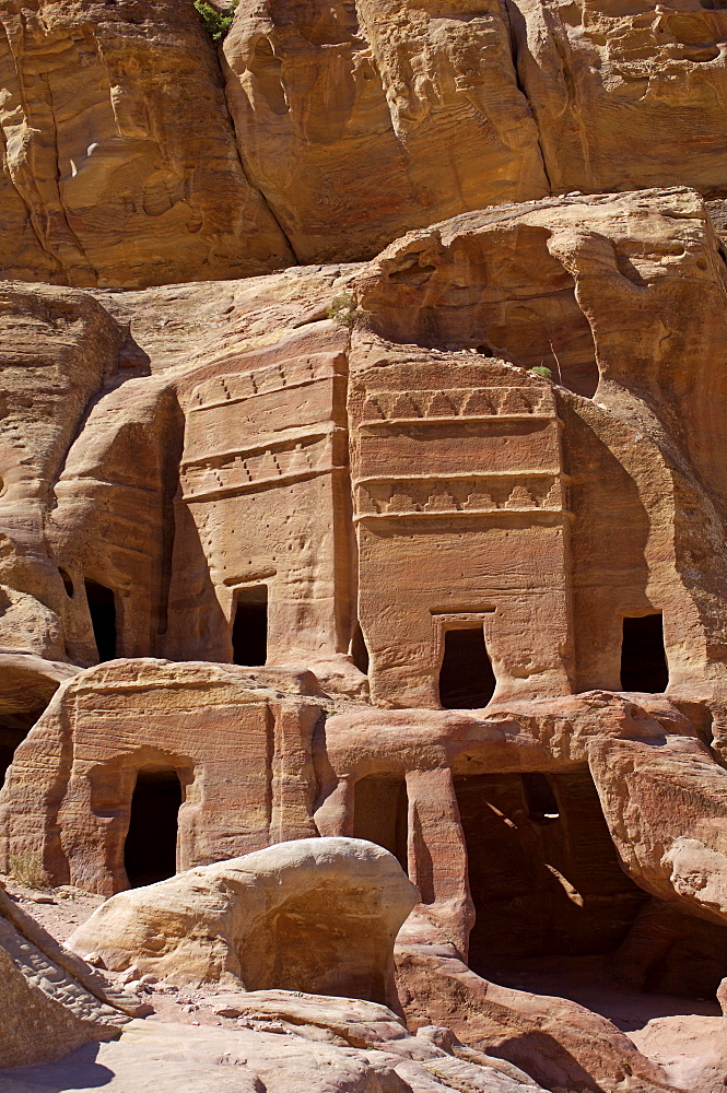 Nabatean tombs, Petra, UNESCO World Heritage Site, Jordan, Middle East