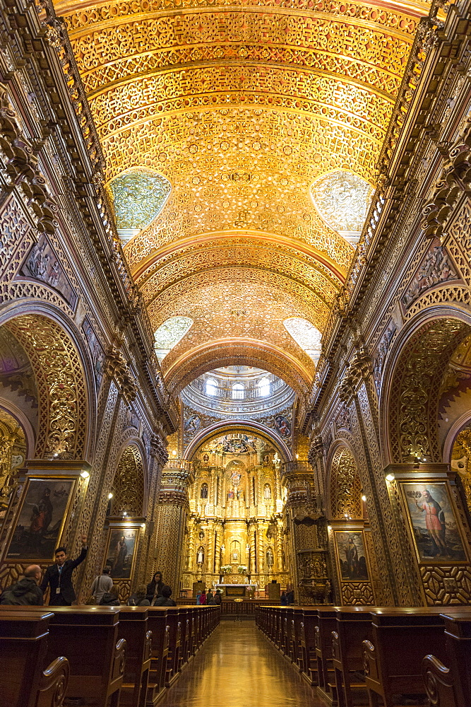 La Compania de Jesus Church, UNESCO World Heritage Site, Quito, Ecuador, South America